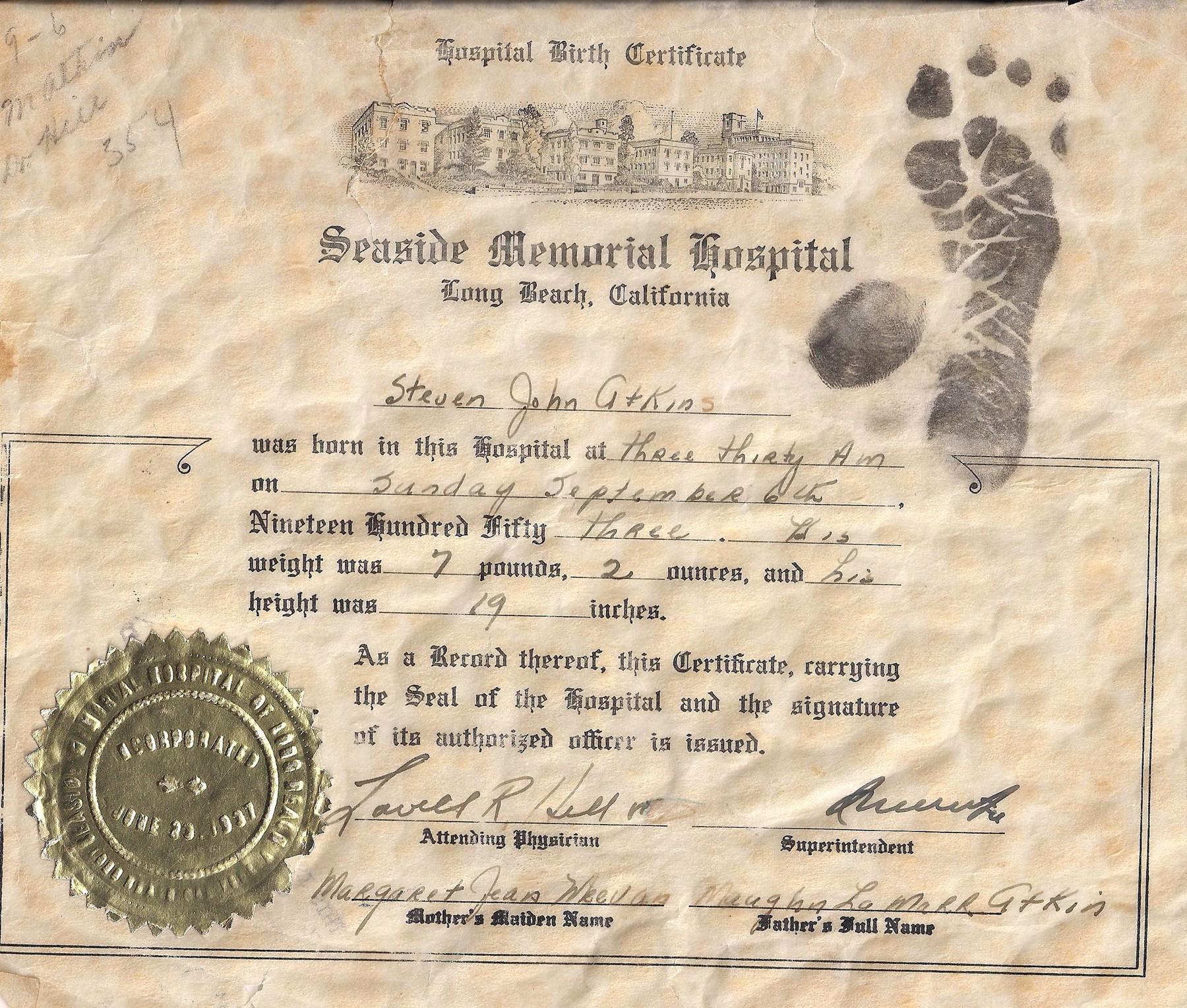 Excepcional Long Beach Ca Birth Certificate Imagen Para La